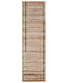 """CLOSEOUT! Nourison Area Rug, Somerset ST17 Lines Gold 2' 3"""" x 8' Runner Rug"""