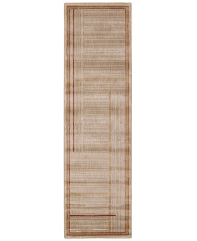 CLOSEOUT! Nourison Area Rug, Somerset ST17 Lines Gold 2' x 5' 9