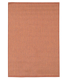 "CLOSEOUT! Couristan Area Rug, Recife Indoor/Outdoor Saddle Stich Terracotta/Natural 2'3"" x 11'9"" Runner Rug"