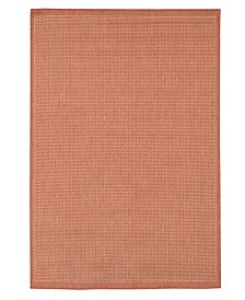 "CLOSEOUT! Couristan Area Rug, Recife Indoor/Outdoor Saddle Stich Terracotta/Natural 2' 3"" x 7' 10"""