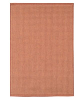 Couristan Area Rug, Recife Indoor/Outdoor Saddle Stich Terracotta/Natural 7