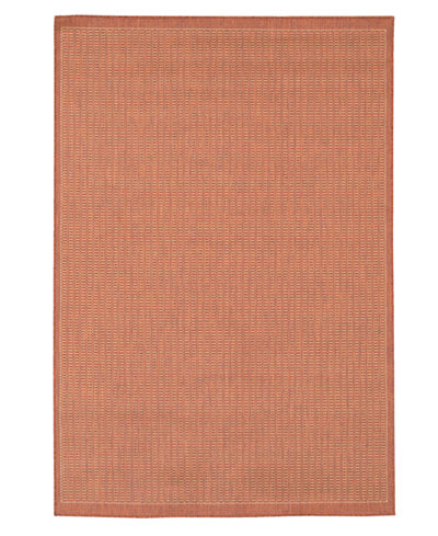 CLOSEOUT! Couristan Area Rug, Recife Indoor/Outdoor Saddle Stich Terracotta/Natural 7' 6