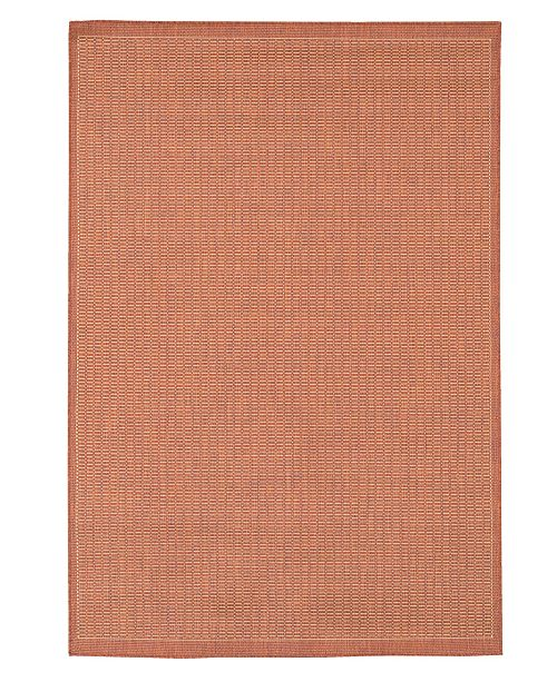 "Couristan CLOSEOUT! Area Rug, Recife Indoor/Outdoor Saddle Stich Terracotta/Natural 2' 3"" x 7' 10"""