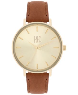 Image of INC International Concepts Women's Leather Strap Watch 36mm, Only at Macy's