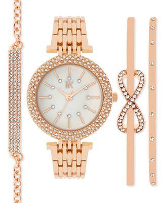 INC International Concepts Women's Bracelet Watch and Bracelets Set 34mm, Only at Macy's