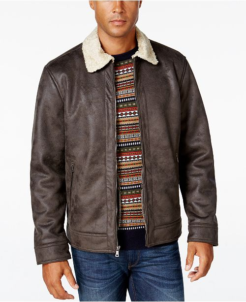 Nautica Men S Big Tall Jacket With Faux Shearling Collar Reviews