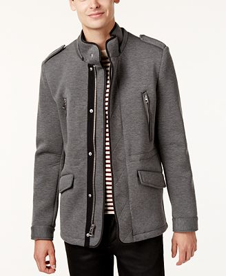 GUESS Men's Knit Military Jacket - Coats & Jackets - Men - Macy's