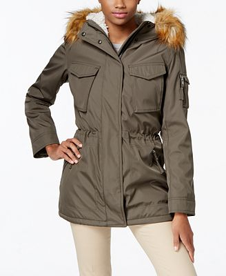 S13 Faux-Fur-Lined Hooded Down Parka - Coats - Women - Macy's