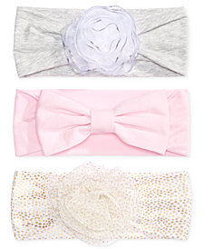 First Impressions 3-Pk. Headbands, Baby Girls, Created for Macy's