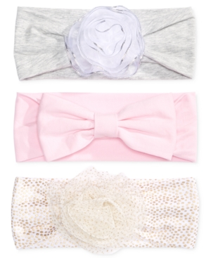 First Impressions 3Pk Headbands Baby Girls (024 months) Created for Macys
