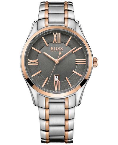 BOSS Hugo Boss Men's Ambassador Two-Tone Stainless Steel Bracelet Watch 43mm 1513388