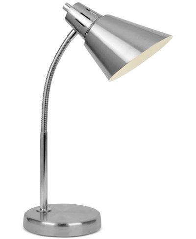 Lite Source Fluorescent Nickel Desk Lamp