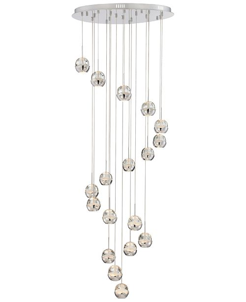 Lite Source Chrome 18-Light Chandelier