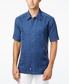 Quiksilver Waterman Men's Aganoa Bay Tropical-Print Short-Sleeve Shirt