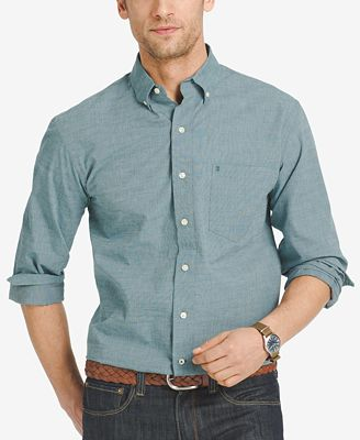 Izod men 39 s big and tall classic long sleeve shirt casual for Izod big and tall shirts