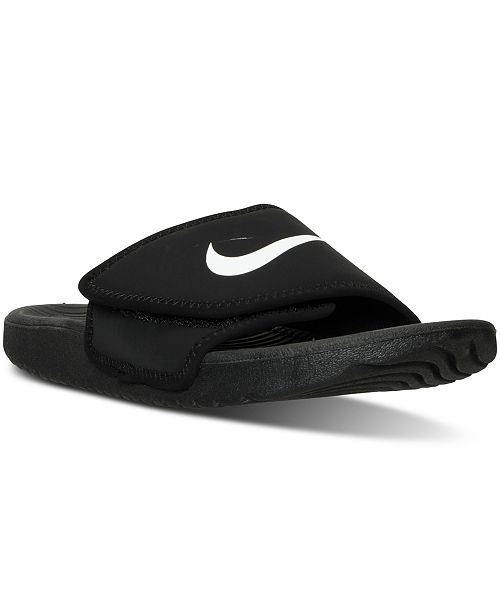 timeless design c76c3 f2a95 ... Nike Big Boys  Kawa Adjust Slide Sandals from Finish ...