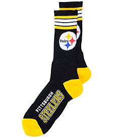 For Bare Feet Pittsburgh Steelers 4 Stripe Deuce Crew 504 Sock