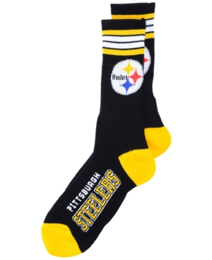 Pittsburgh Steelers 4 Stripe Deuce Crew 504 Sock