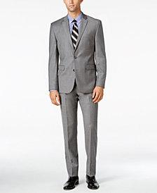 Vince Camuto Men's Slim-Fit Medium Gray Flannel Suit