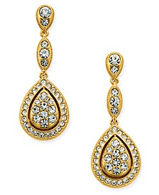 Gold-Tone Teardrop Pavé Drop Earrings, Created for Macy's