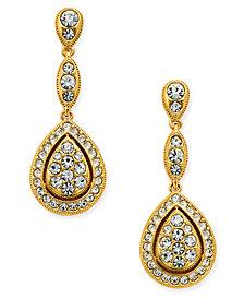 Danori Gold-Tone Teardrop Pavé Drop Earrings, Created for Macy's