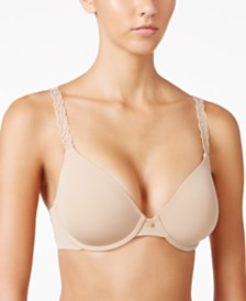 Natori Pure Luxe Embroidered-Strap Bra 732080