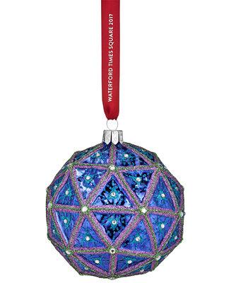 Waterford Times Square 2017 Replica Ball Ornament Holiday Lane Splash M