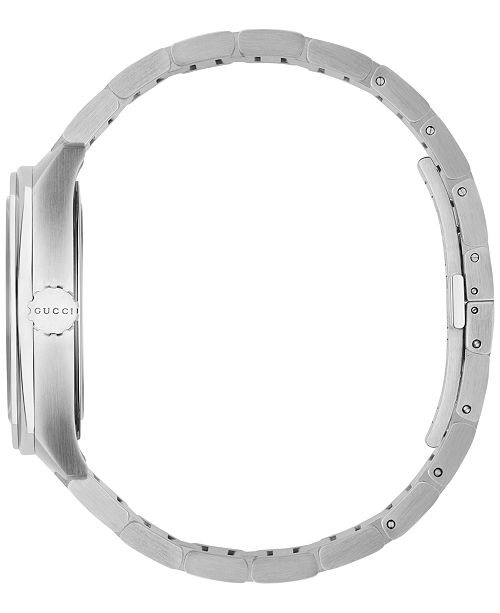 Gucci Men S Gg2570 Swiss Stainless Steel Bracelet Watch 41mm Ya142303 Watches Jewelry Macy