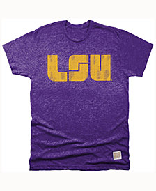 Retro Brand Men's LSU Tigers Mock Twist Team Logo T-Shirt
