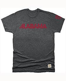 Retro Brand Men's Alabama Crimson Tide Mock Twist Team Logo T-Shirt
