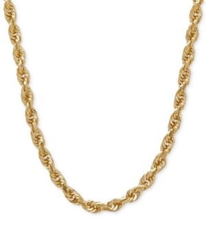 "Image of 030 Rope Chain 24"" Necklace (4mm) in Solid 14k Gold"