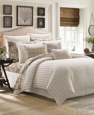 Sandy Coast Stripe Queen 4-Pc. Comforter Set