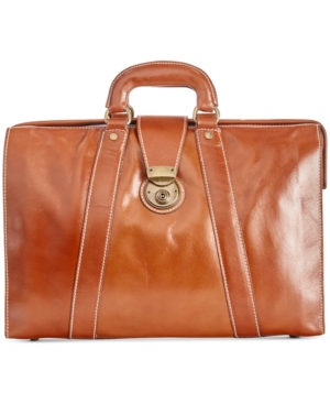 Nash Men's Heritage Leather Lawyer Briefcase
