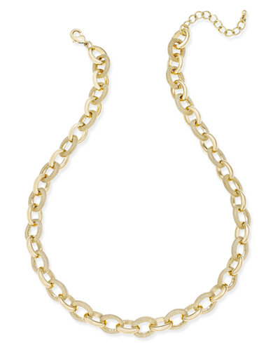 Charter Club Gold-Tone Chain Necklace, Created for Macy's