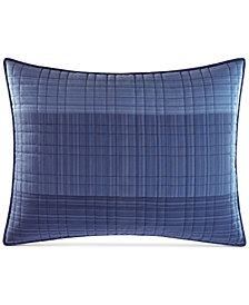 Nautica Riverview Colorblocked Quilted Standard Sham
