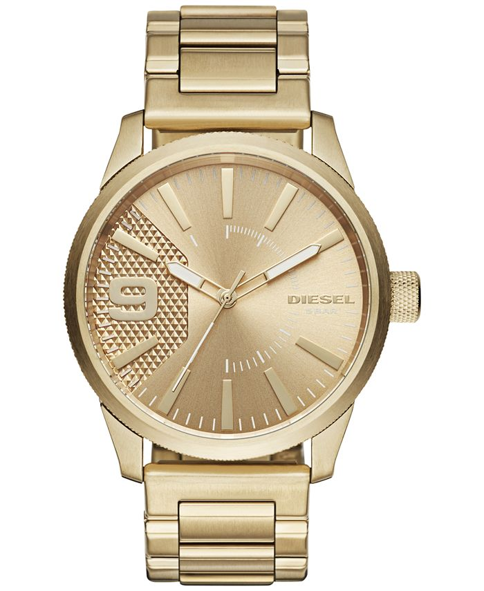 Diesel - Men's Rasp Gold-Tone Stainless Steel Bracelet Watch 46x53mm DZ1761