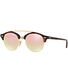 Ray-Ban CLUBROUND DOUBLE BRIDGE Sunglasses, RB4346