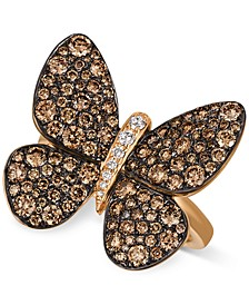 Chocolatier®  Chocolatier Diamond Butterfly Ring (1-7/8 ct. t.w.) in 14k Rose Gold