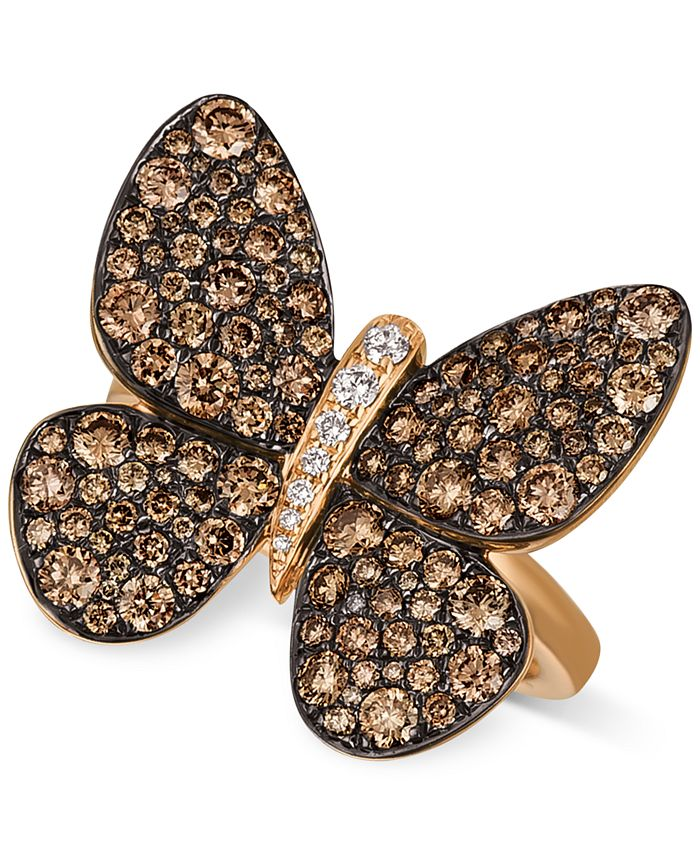 Le Vian - Diamond Butterfly Ring (1-7/8 ct. t.w.) in 14k Rose Gold