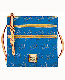 Dooney & Bourke Detroit Lions Dooney & Bourke Triple-Zip Crossbody Bag