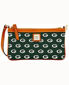 Dooney & Bourke Green Bay Packers Large Slim Wristlet