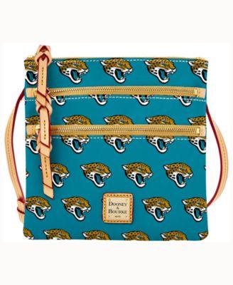 Jacksonville Jaguars Dooney & Bourke Triple-Zip Crossbody Bag