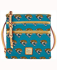 Dooney & Bourke Jacksonville Jaguars Dooney & Bourke Triple-Zip Crossbody Bag