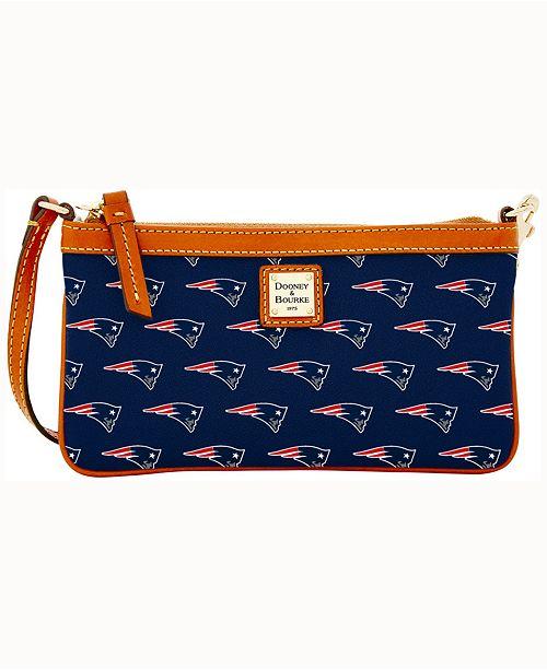 bdf6582a3921d4 ... Dooney   Bourke New England Patriots Large Slim Wristlet ...