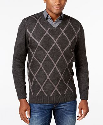 Tricots St Raphael Men's Diamond V-Neck Sweater