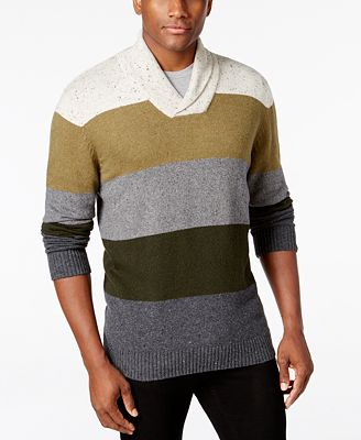 Tricots St Raphael Men's Shawl-Collar Striped Sweater