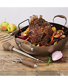 "Anolon Advanced Hard-Anodized 16"" x 13"" Roaster Set"