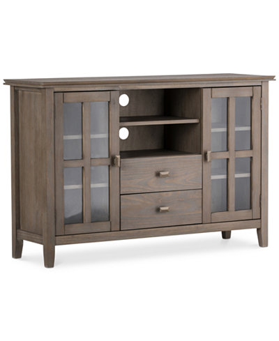 Bellevue Tall Tv Stand Quick Ship Furniture Macy S