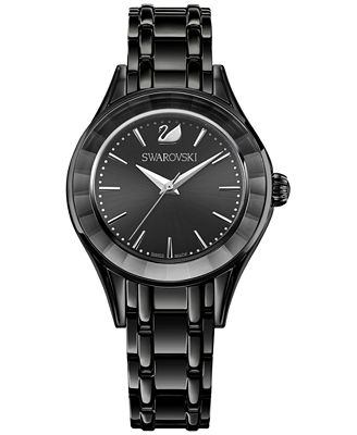 Swarovski Women's Swiss Alegria Black Bracelet Watch 33mm 5188824