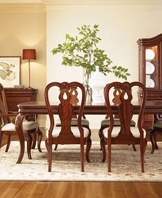Bordeaux Louis PhilippeStyle Fitted Table Pad Furniture Macys - Fitted table pads